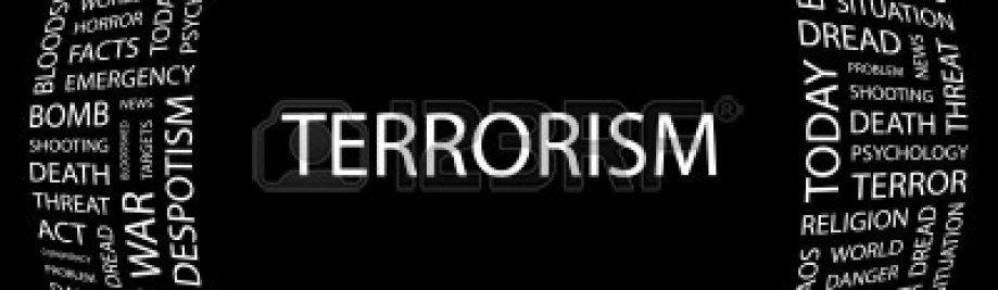 7363566 आतंकवाद-शब्द-महाविद्यालय पर काले-पृष्ठभूमि वेक्टर चित्रण