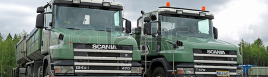 28812410-lieto-finland--may-30-2014-two-older-models-of-scania-124g-470-gravel-trucks-with-conventional-cab-l