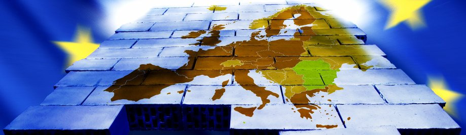 Konstruksie en kaart van Europa