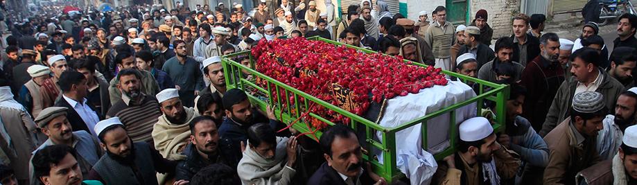 پشاور میں سوگواروں
