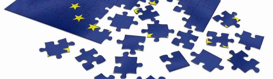 Unfinished Umoja wa Ulaya Bendera puzzle