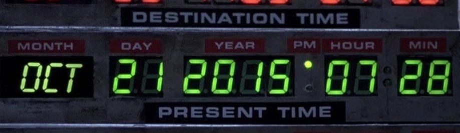 Back to future date