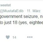 Yilmaz Turkish tweet