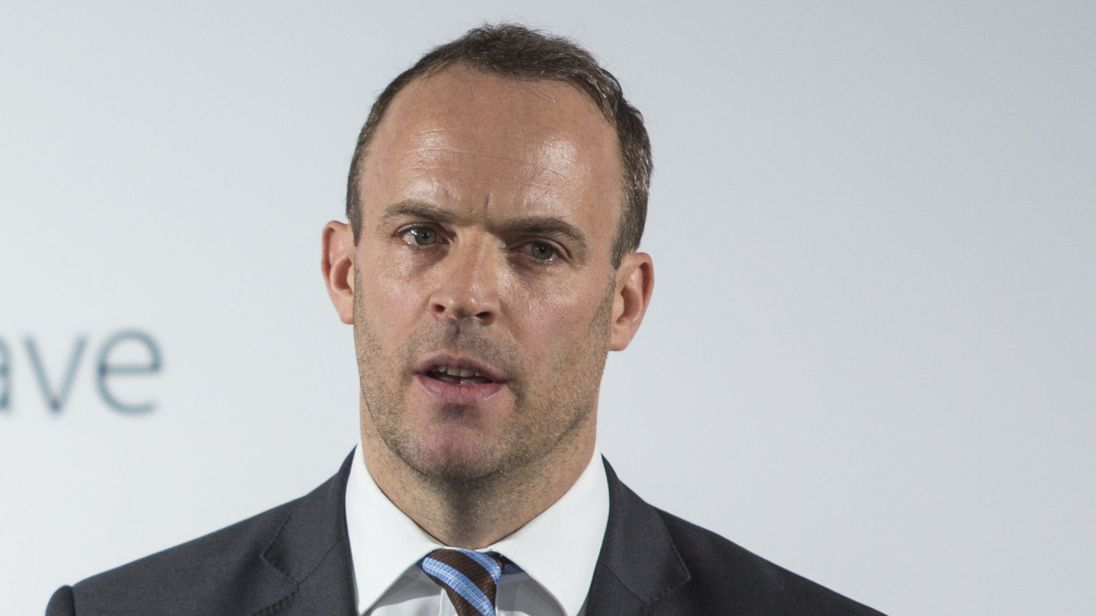 Dominic Raab: Britain making plans for a 'Brexit no deal'