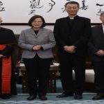 #PresidentTsai meets Cardinal Fernando Filoni, Prefect of Vatican Congregation for the Evangelization of Peoples