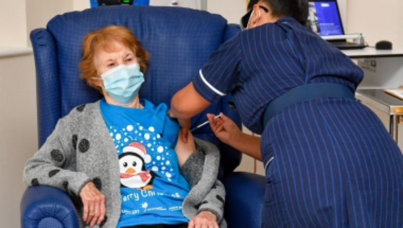 'Route out' of pandemic: United Kingdom gives 1st COVID-19 vaccine doses