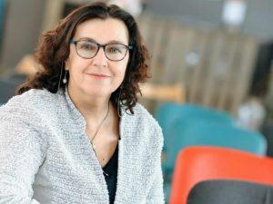 Julia Slutskaya, the founder and president of Press Club Belarus